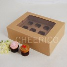 12 Kraft Brown Window MIni Cupcake Box ($3.00/pc x 25 units)