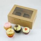 2 Cupcake Kraft Window Box($2.00/pc x 25 units)