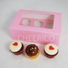 6  Window Pink Cupcake Box($1.60/pc x 25 units)