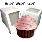 "Giant Cupcake Window Box - 14"" x 14"" x 14"" ($6.50/pc x 25 units)"