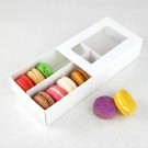 12 Macaron White Window Boxes ($2.60/pc x 25 units)
