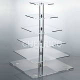 6 Tier  Square Pole Cupcake Stand