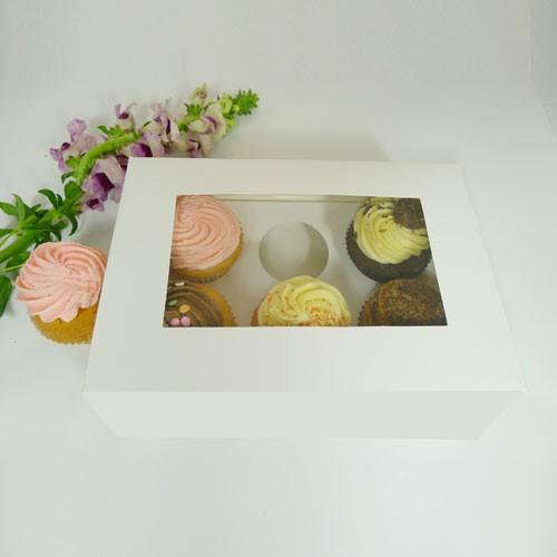 6 Cupcake Window Box w flexi hole($2.40/pc x 25 units)