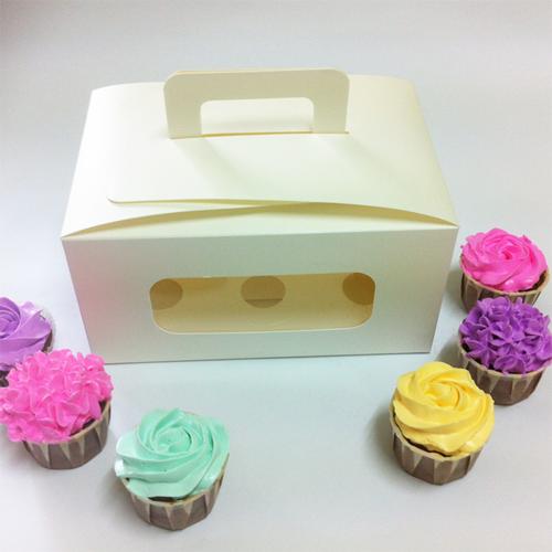 6 Cupcake Window Box w Handle ($3.00/pc x 25 units)