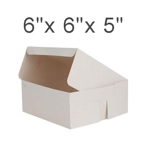 """Cake Boxes - 6"""" x 6"""" x 5"""" ($1.50/pc x 25 units)"""