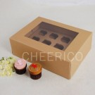 12 Kraft Cupcake Window Box ($3.60/pc x 25 units)