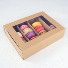 24 Macaron Kraft Window Boxes ($3.90/pc x 25 units)