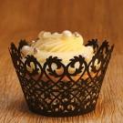 Black Filigree Cupcake Wrappers - 12units/pack