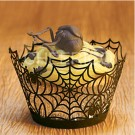 Black Spider Web Cupcake Wrappers - 12units/pack